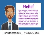 banner with boring people.... | Shutterstock .eps vector #493302151