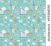 blog seamless vector pattern.... | Shutterstock .eps vector #493308535