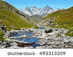 River In The Mountain Valley O...