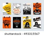 collection of happy halloween...   Shutterstock .eps vector #493315567