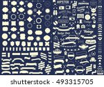 set of vintage styled design... | Shutterstock .eps vector #493315705