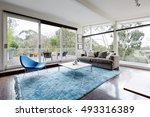 glassed wall australian living... | Shutterstock . vector #493316389
