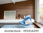 horizontal wood panelling and... | Shutterstock . vector #493316395
