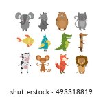 Cute Animals Vector Character...