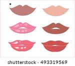natural skin tones lipstick... | Shutterstock .eps vector #493319569
