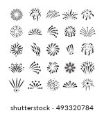 festive firework bursting shape ... | Shutterstock .eps vector #493320784