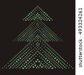 shimmering diamond luxury...   Shutterstock .eps vector #493324261