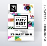 invitation disco party poster... | Shutterstock .eps vector #493324747