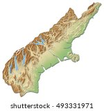 relief map   canterbury  new... | Shutterstock . vector #493331971