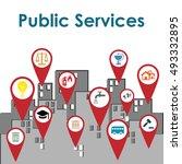 vector illustration of public... | Shutterstock .eps vector #493332895
