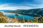 emerald bay is a state park on... | Shutterstock . vector #493340551