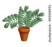 plant in ceramic pot icon in... | Shutterstock .eps vector #493348951