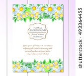 romantic invitation. wedding ... | Shutterstock . vector #493364455