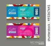 vector gift voucher template... | Shutterstock .eps vector #493367641
