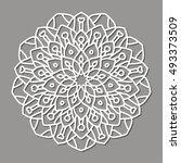 mandala. ethnic decorative... | Shutterstock .eps vector #493373509