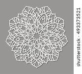 mandala. ethnic decorative... | Shutterstock .eps vector #493373521