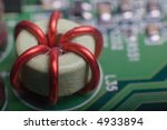 motherboard's green electronic... | Shutterstock . vector #4933894