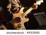 man playing electrical guitar... | Shutterstock . vector #4933900