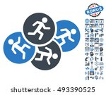 running men icon with bonus... | Shutterstock .eps vector #493390525