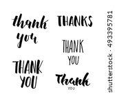 thank you lettering set   Shutterstock .eps vector #493395781