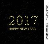 typography banner 2017 happy... | Shutterstock .eps vector #493401904