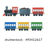 vintage retro transportation... | Shutterstock .eps vector #493412617