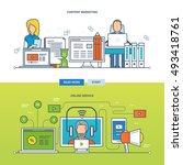concept of types of online...   Shutterstock .eps vector #493418761