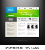 website design template  vector. | Shutterstock .eps vector #49342201