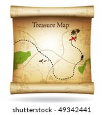 treasure map. vector. | Shutterstock .eps vector #49342441