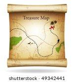 treasure map. vector. | Shutterstock .eps vector #49342441
