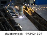 laser cutting machine | Shutterstock . vector #493424929