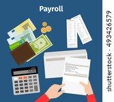 invoice sheet  paysheet or... | Shutterstock .eps vector #493426579