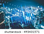 data analyzing in forex... | Shutterstock . vector #493431571