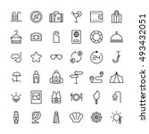 set of travel icons in modern... | Shutterstock .eps vector #493432051