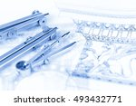 architectural drawing   detail... | Shutterstock . vector #493432771