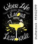 vector hand lettered... | Shutterstock .eps vector #493432999
