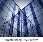 modern glass business center at ... | Shutterstock . vector #49343599