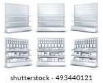 blank supermarket products on...   Shutterstock . vector #493440121