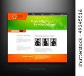 website design template  vector. | Shutterstock .eps vector #49345516