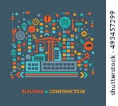 building and construction... | Shutterstock .eps vector #493457299