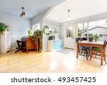 bright entrance room in... | Shutterstock . vector #493457425