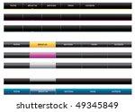 editable vector web menu   Shutterstock .eps vector #49345849