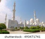 sheikh zayed mosque in abu...   Shutterstock . vector #493471741