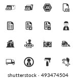 job icon set for web sites and... | Shutterstock .eps vector #493474504