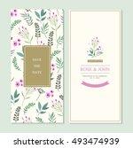 wedding invitation card suite... | Shutterstock .eps vector #493474939