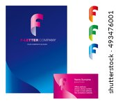 template f brand name companies.... | Shutterstock .eps vector #493476001