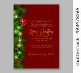 christmas party invitation... | Shutterstock .eps vector #493478269