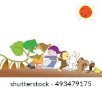 harvest of potatoes.this is... | Shutterstock .eps vector #493479175