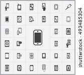 smartphone icons universal set... | Shutterstock . vector #493485304