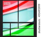 corporate identity template set.... | Shutterstock .eps vector #493495999